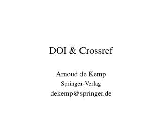 DOI & Crossref