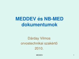 MEDDEV és NB-MED  dokumentumok