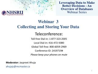 Leveraging Data to Make Better Decisions - An Overview of Databases Webinar Series