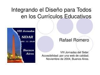 Integrando el Dise o para Todos en los Curr culos Educativos