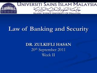 Law of Banking and Security
