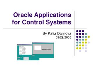 Oracle Applications for Control Systems