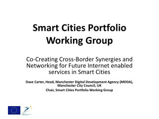 Smart Cities Portfolio Working Group