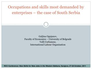 Occupations and skills most demanded by enterprises – the case of South Serbia
