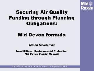 Mid Devon Air Quality – A Problem?