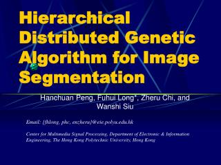 Hierarchical Distributed Genetic Algorithm for Image Segmentation
