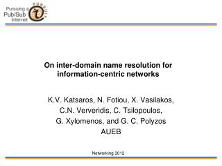 On inter-domain name resolution for  information-centric networks