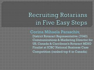 Recruiting Rotarians in Five Easy Steps