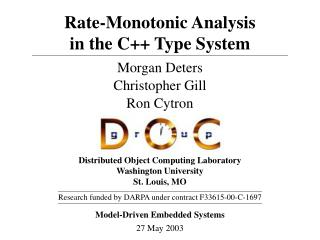 Rate-Monotonic Analysis in the C++ Type System
