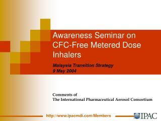 Awareness Seminar on CFC-Free Metered Dose Inhalers