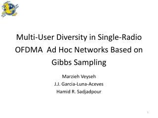Multi-User Diversity in Single-Radio OFDMA  Ad  Hoc Networks Based on Gibbs Sampling