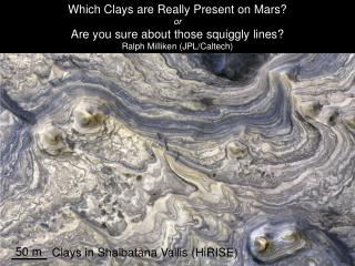 Which Clays are Really Present on Mars or Are you sure about those squiggly lines Ralph Milliken JPL