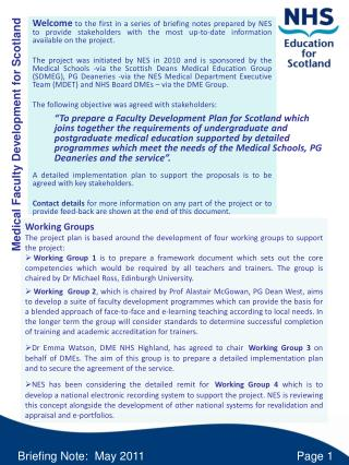 Medical Faculty Development for Scotland