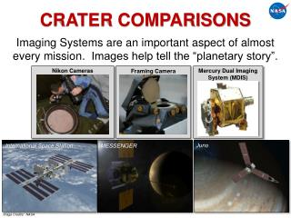CRATER COMPARISONS