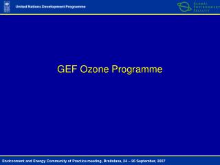 GEF Ozone Programme