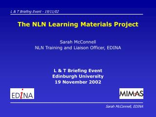 The NLN Learning Materials Project