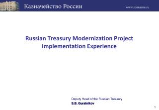 Russian Treasury Modernization Project  Implementation Experience