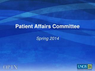 Patient Affairs Committee