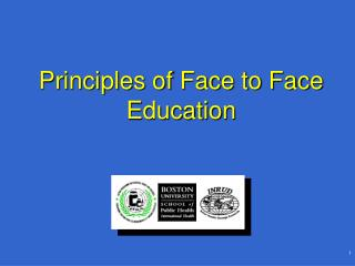 Principles of Face to Face Education