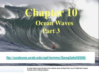 Chapter 10     Ocean Waves Part 3