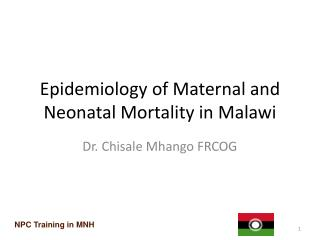 Epidemiology of Maternal and Neonatal Mortality in Malawi
