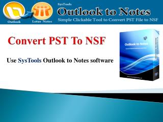 Convert PST to NSF