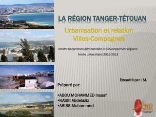 La r�gion Tanger-T�touan