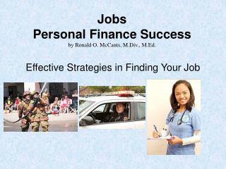 Jobs Personal Finance Success by Ronald O. McCants, M.Div., M.Ed.
