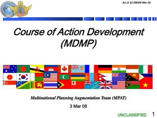 Course of Action Development (MDMP)