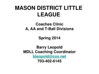 MASON DISTRICT LITTLE LEAGUE