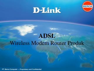 ADSL Wireless Modem Router Produk