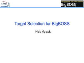 Target Selection for BigBOSS