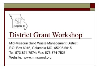 District Grant Workshop