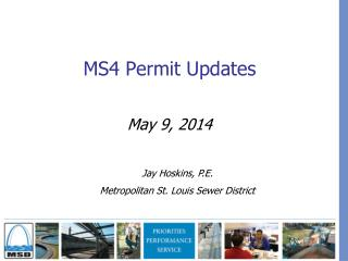 MS4 Permit Updates