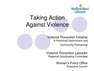 Taking Action  Against Violence