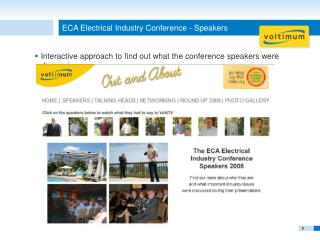 ECA Electrical Industry Conference - Speakers