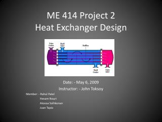 ME 414 Project 2 Heat Exchanger Design