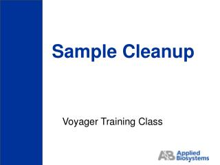 Sample Cleanup
