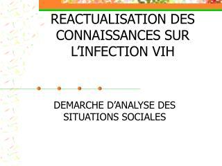 REACTUALISATION DES CONNAISSANCES SUR L'INFECTION VIH