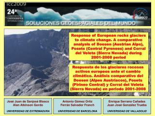 José Juan de Sanjosé Blasco Alan Atkinson Gordo UNIVERSIDAD DE EXTREMADURA