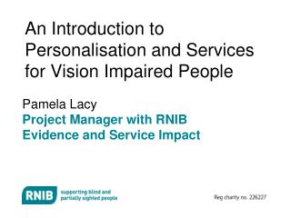 An Introduction to Personalisation and Services for Vision ...