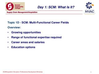 Day 1: SCM: What Is It?