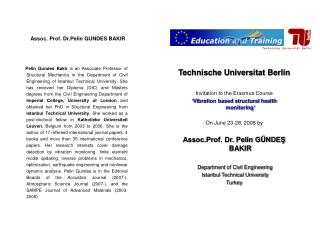 Technische Universitat Berlin Invitation to the Erasmus Course