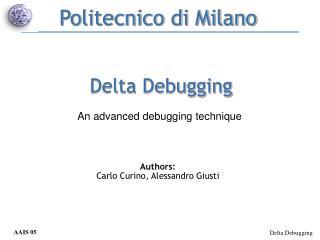 Delta Debugging