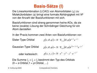 Basis-Sätze (I)