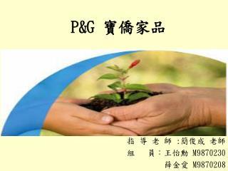P&G  寶僑家品