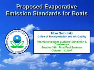 Proposed Evaporative Emission Standards for Boats