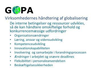 Virksomhedernes håndtering af globalisering