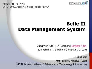Belle II  Data Management System