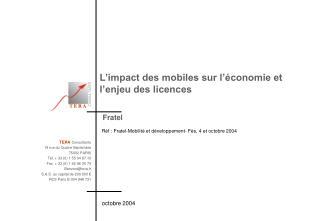 L'impact des mobiles sur l'économie et l'enjeu des licences